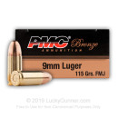 Bulk 9mm Ammo For Sale - 115 gr FMJ - PMC Ammunition In Stock