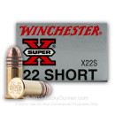 22 Short Ammo For Sale - 29 gr LRN - Winchester Super-X Ammunition In Stock - 50 Rounds