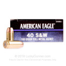 Cheap 40 S&W Ammo For Sale - 180 Grain FMJ Ammunition in Stock by Federal American Eagle C.O.P.S. - 1000 Rounds