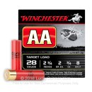 "Cheap 28 Gauge Ammo For Sale - 2-3/4"" 3/4 oz. #8 Shot Ammunition in Stock by Winchester AA - 25 Rounds"