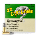 22 LR Ammo For Sale - 36 gr Lead Hollow Point Ammunition - Remington Cyclone - 500 Rounds