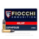 Bulk 22 LR Ammo For Sale - 40 gr HP - Fiocchi Subsonic Ammo In Stock - 500 Rounds