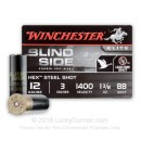 """Cheap 12 Gauge Ammo For Sale - 3"""" 1 3/8 oz. BB Shot Ammunition in Stock by Winchester Blind Side - 25 Rounds"""