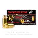 Cheap 40 S&W Ammo For Sale - 180 Grain FMJ Ammunition in Stock by Winchester Train & Defend - 50 Rounds