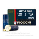 "Cheap 12 Gauge Ammo For Sale - 2-3/4"" 1 oz. #7-1/2 Shot Ammunition in Stock by Fiocchi Little Rino - 25 Rounds"