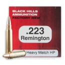 Premium 223 Rem Ammo For Sale - 68 Grain Heavy Match Hollow Point Ammunition in Stock by Black Hills Ammunition - 50 Rounds