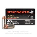 40 SW Ammo - 180 gr JHP - Winchester Supreme Elite Bonded Ammunition - 20 Rounds