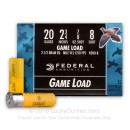 "Cheap 20 ga Ammo For Sale - 2-3/4"" 7/8 oz #8 lead shot by Federal Game-Shok - 25 Rounds"