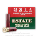 """Cheap 28 Gauge Ammo For Sale - 2-3/4"""" 3/4 oz. #6 Shot Ammunition in Stock by Estate Hunting Load - 25 Rounds"""