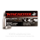Premium 300 WSM Ammo For Sale - 180 Grain Ballistic Silvertip Ammunition in Stock by Winchester - 20 Rounds