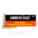 Bulk 223 Rem Ammo For Sale - 55 gr FMJ Ammunition In Stock by Federal American Eagle