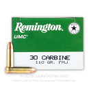 30 Carbine Ammo For Sale - 110 gr MC - Remington UMC Ammunition Online