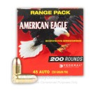 Bulk 45 ACP Ammo For Sale - 230 Grain FMJ Ammunition in Stock by Federal American Eagle - 200 Rounds
