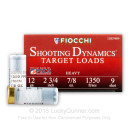 "Bulk 12 Gauge Ammo For Sale - 2-3/4"" 7/8oz. #9 Shot Ammunition in Stock by Fiocchi - 250 Rounds"