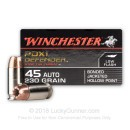 45 ACP Ammo - 230 gr JHP - Winchester Supreme Elite Bonded Ammunition - 20 Rounds