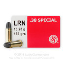 Bulk 38 Special Ammo For Sale - 158 Grain LRN Ammunition in Stock by Sellier & Bellot - 1000 Rounds