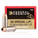 38 Special +P Ammo For Sale - 129 gr Hydra-Shok JHP Federal Ammo Online