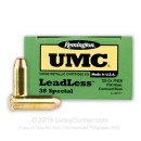 Bulk 38 Special Ammo For Sale - 125 gr FNEB - Remington UMC Leadless Ammunition - 500 Rounds