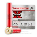"Cheap 410 Gauge Ammo For Sale - 3"" 3/4 oz. #6 Shot Ammunition in Stock by Winchester Super-X - 25 Rounds"