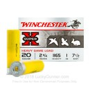 "Bulk 20 Gauge Ammo For Sale - 2-3/4"" 1oz. #7.5 Shot Ammunition in Stock by Winchester Super-X Heavy Game Load - 250 Rounds"