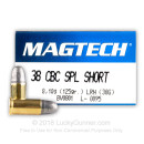 Cheap 38 Special Short Ammo For Sale - 125 gr LRN Magtech Ammo Online - 50 Rounds