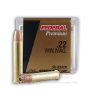 Premium 22 WMR Ammo For Sale - 30 gr JHP TNT- Federal 22 Magnum Rimfire Ammunition In Stock - 50 Rounds