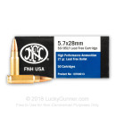 5.7x28mm - 27 gr - JHP Lead-Free - FN Herstal - 50 Rounds