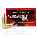 9mm Ammo For Sale - 115 Grain FMJ - Federal American Eagle Ammunition In Stock - 500 Rounds