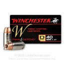 Bulk 40 S&W Ammo For Sale - 180 Grain JHP Ammunition in Stock by Winchester W Train and Defend - 200 Rounds