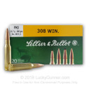 308 Ammo For Sale - 180 grain FMJ - Sellier & Bellot Ammo In Stock - 500 Rounds