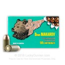 Cheap 9mm Makarov (9x18mm) Ammo For Sale - 94 gr FMJ Brown Bear Ammunition For Sale - 50 Rounds