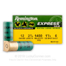 "Bulk 12 Gauge Ammo For Sale - 2-3/4"" 1-1/8 oz. #6 Shot Ammunition in Stock by Remington Express XLR - 250 Rounds"