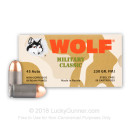 Cheap 45 ACP Ammo For Sale - 230 grain FMJ Ammunition in Stock by Wolf Military Classic - 50 Rounds