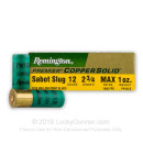 "Premium 12 ga Remington Copper Solid Sabot Slugs For Sale - 2-3/4"" 1 oz. Sabot Sabot Slug Ammunition by Remington - 5 Rounds"
