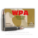 Bulk 308 Winchester 140 grain Soft Point Wolf WPA Ammo For Sale - 500 Rounds