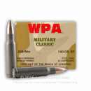 Cheap 308 Winchester 140 grain Soft Point Wolf WPA Military Classic Ammo For Sale - 20 Rounds