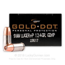 Bulk 9mm Self Defense Ammo For Sale - 124 Grain +P Gold Dot Ammunition in Stock by Speer - 500 Rounds