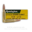 308 Ammo For Sale - 180 gr PSP - Remington Ammo Online - 20 Rounds