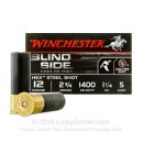 "Premium 12 Gauge Waterfowl Ammo - Winchester Blindside 2-3/34""  1-1/4 oz #5 Hex Steel Shot - 25 Rounds"