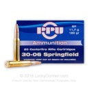 30-06 Ammo For Sale - 180 gr SP Soft Point Ammunition Online by Prvi Partizan - 20 Rounds