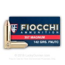Bulk 357 Mag Ammo For Sale - 142 Grain FMJ-TC Ammunition in Stock by Fiocchi - 1000 Rounds