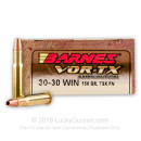 30-30 Winchester - 150 gr Lead Free TSX Hollow Point Barnes VOR-TX Ammunition - Barnes - 20 Rounds