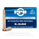 Cheap 9.3x62mm Ammo For Sale - 285 Grain SP Ammunition in Stock by Prvi Partizan - 20 Rounds