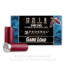 "Bulk 12 Gauge Ammo - 2-3/4"" Lead Shot Game shells - 1 oz - #8 - Federal Game-Shok - 250 Rounds"