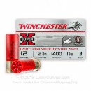 "Premium 12 Gauge Ammo For Sale - 2-3/4"" 1-1/8oz #3 HV Steel Shot Ammunition in Stock by Winchester Super-X Xpert - 25 Rounds"