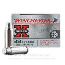 Premium 38 Special Ammo For Sale - 158 Grain LSWC Ammunition in Stock by Winchester Super-X - 50 Rounds
