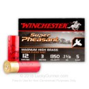 "Cheap 12 Gauge Ammo For Sale - 3"" 1-5/8 oz. #5 Shot Ammunition in Stock by Winchester Super-X Super Pheasant - 25 Rounds"