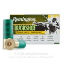 """Value Pack 12 ga Ammo For Sale - 2-3/4"""" 00 Buck Ammunition by Remington - 25 Rounds"""