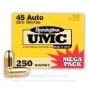 45 ACP Ammo For Sale - 230 gr MC - Remington UMC Ammunition In Stock - 250 Rounds