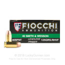 Premium 40 S&W Ammo For Sale - 125 Grain RHVF Ammunition in Stock by Fiocchi - 50 Rounds